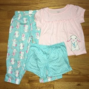 Carter's Pajamas - 3 piece Carters PJ set, 4T